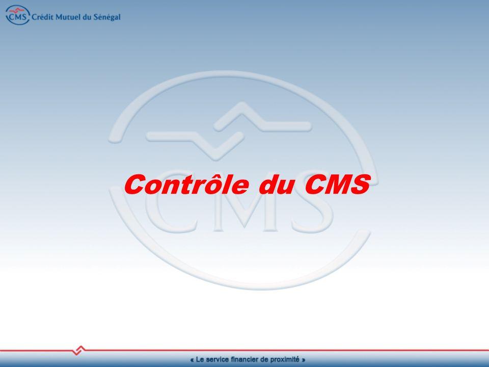 Contrôle du CMS