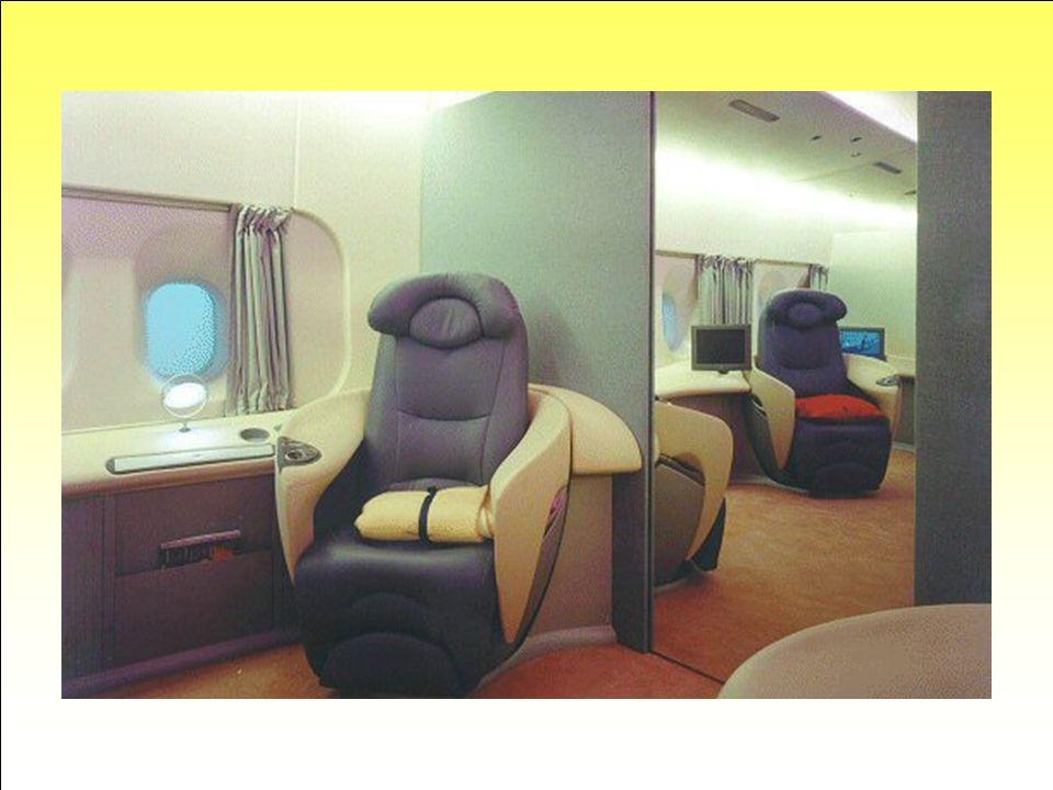 Salons grand-luxe … Disons le tout net : ne vous attendez pas à bénéficier de tels équipements sur un vol nolisé (« charter »)... Le but ici est datti
