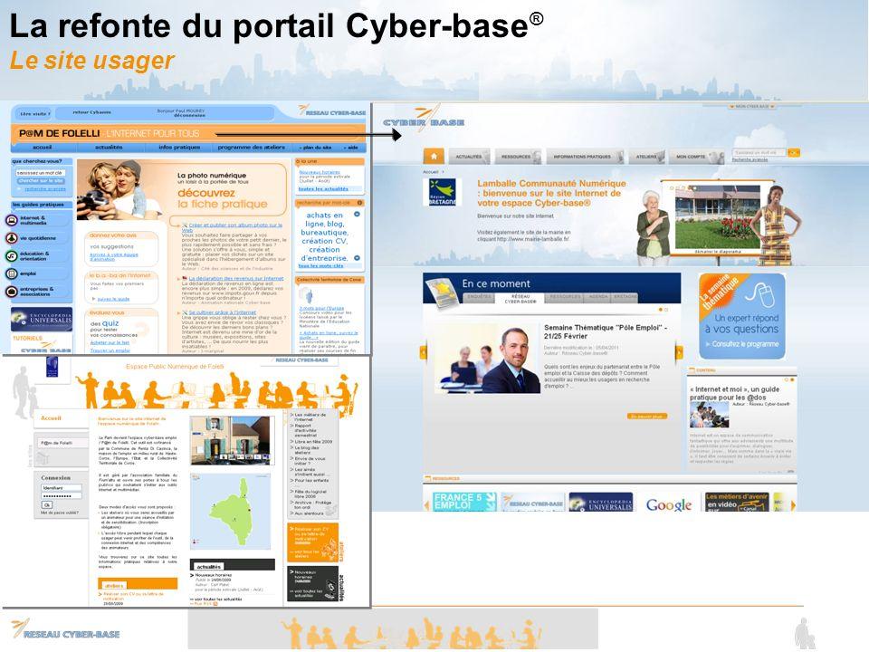 La refonte du portail Cyber-base ® Le site usager