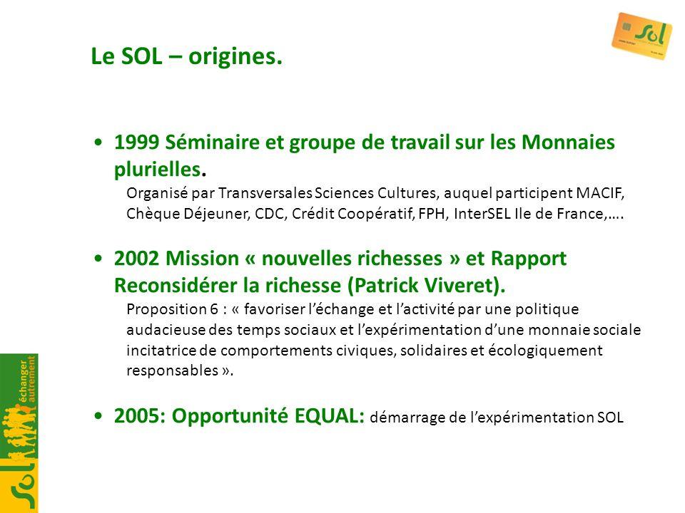 1999 Séminaire et groupe de travail sur les Monnaies plurielles. Organisé par Transversales Sciences Cultures, auquel participent MACIF, Chèque Déjeun