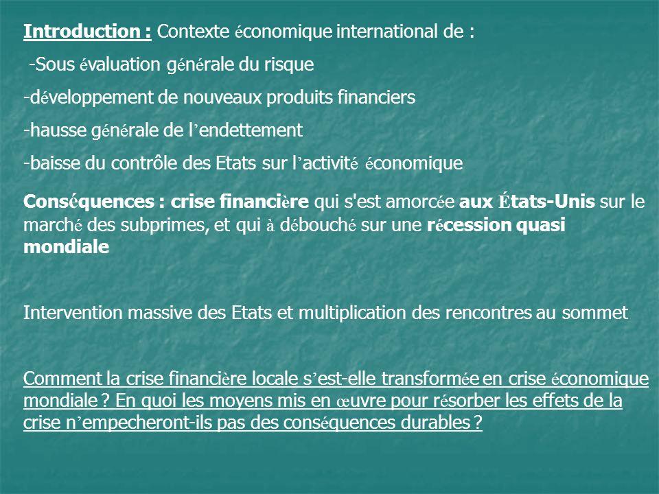 Processus de transformation de la crise bancaire en crise économique :