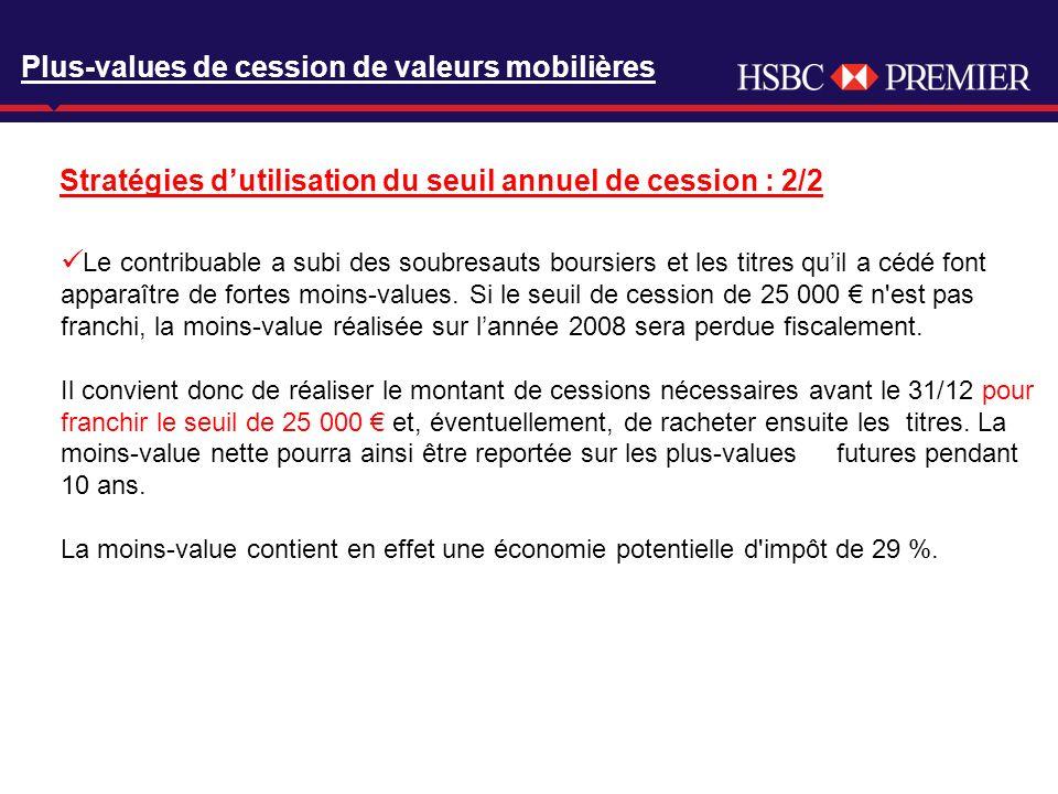 Click to edit Master title style Plus-values de cession de valeurs mobilières Le contribuable a subi des soubresauts boursiers et les titres quil a cé