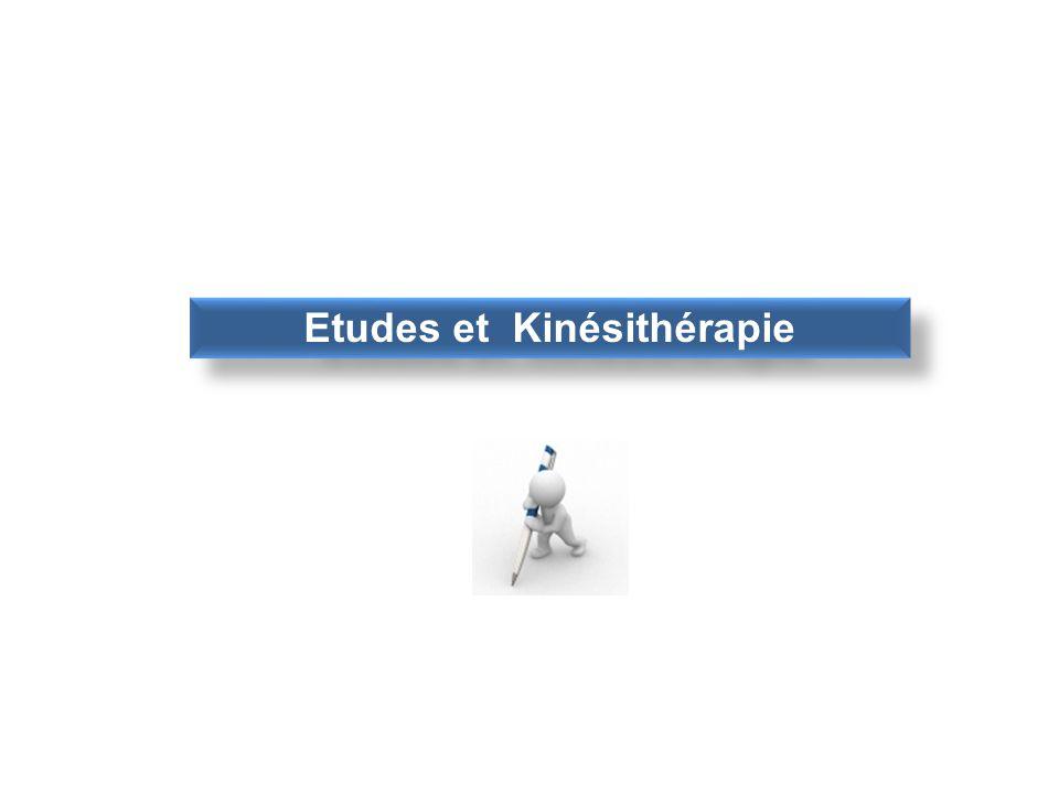 Etudes et Kinésithérapie
