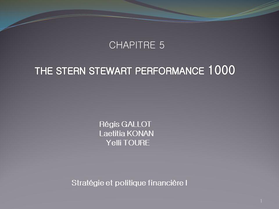 1 Régis GALLOT Laetitia KONAN Yelli TOURE Stratégie et politique financière I