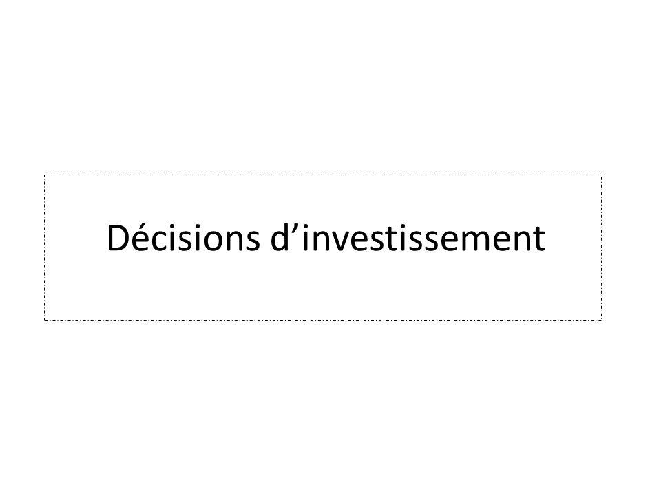 Décisions dinvestissement