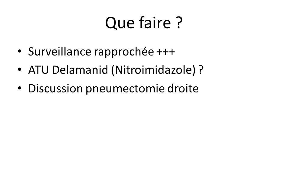 Que faire .Surveillance rapprochée +++ ATU Delamanid (Nitroimidazole) .