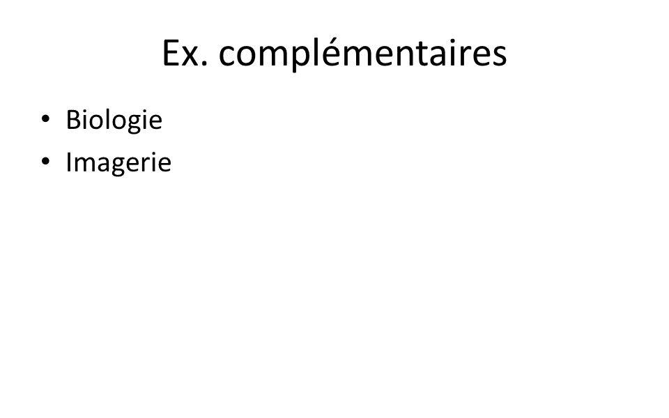 Ex. complémentaires Biologie Imagerie