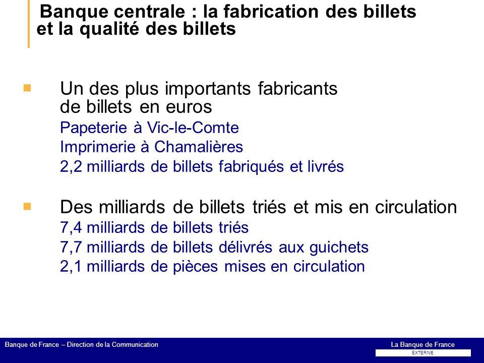 Banque centrale : la fabrication des billets et la qualité des billets Un des plus importants fabricants de billets en euros Papeterie à Vic-le-Comte