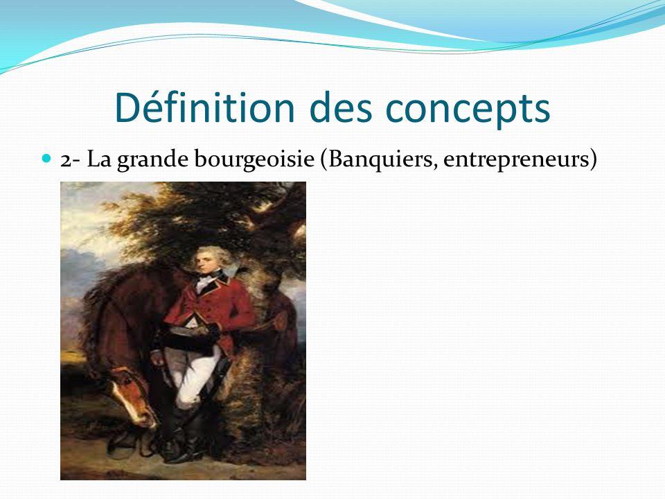 Définition des concepts 2- La grande bourgeoisie (Banquiers, entrepreneurs)