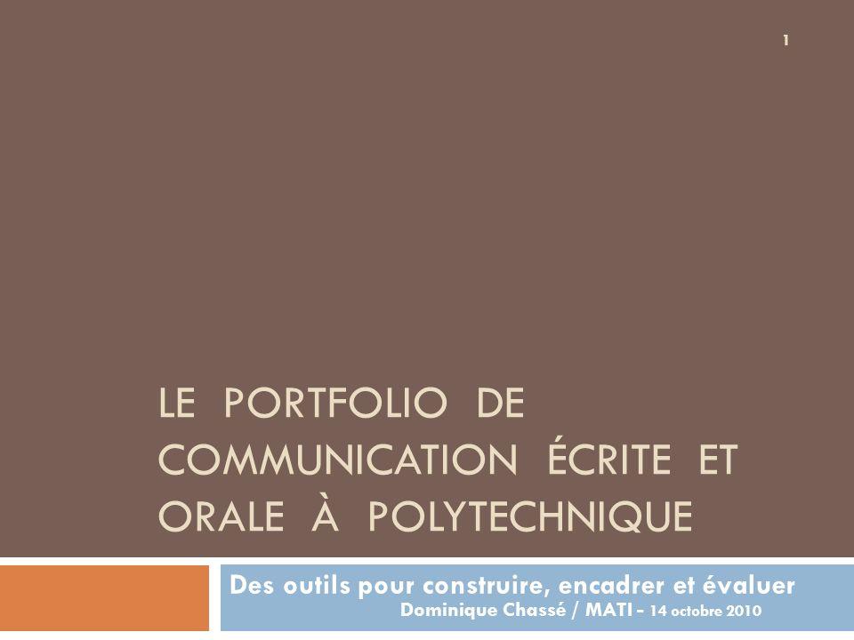 Un processus de perfectionnement personnalisé en CÉO Obligatoire dans tous les programmes depuis 2006 Crédité Étalé sur 3 ans Documenté par un portfolio personnel Environ 3000 portfolios actifs 2