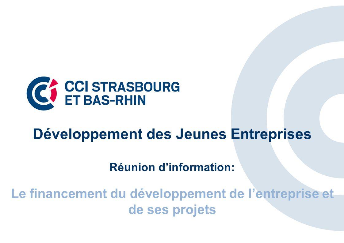 Développement des Jeunes Entreprises Réunion dinformation: Le financement du développement de lentreprise et de ses projets