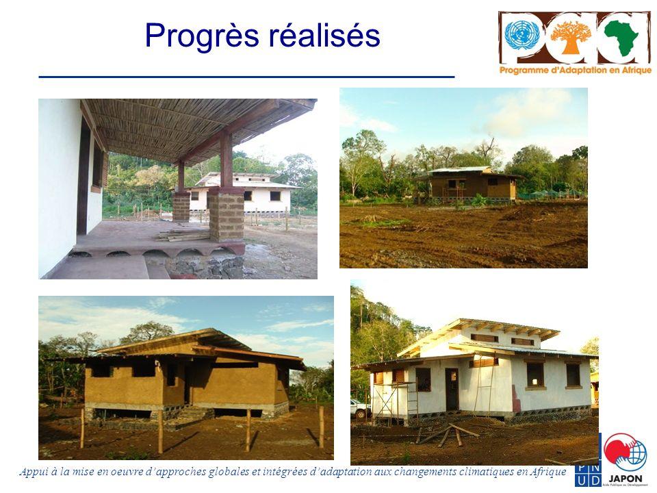 Appui à la mise en oeuvre dapproches globales et intégrées dadaptation aux changements climatiques en Afrique Progrès réalisés