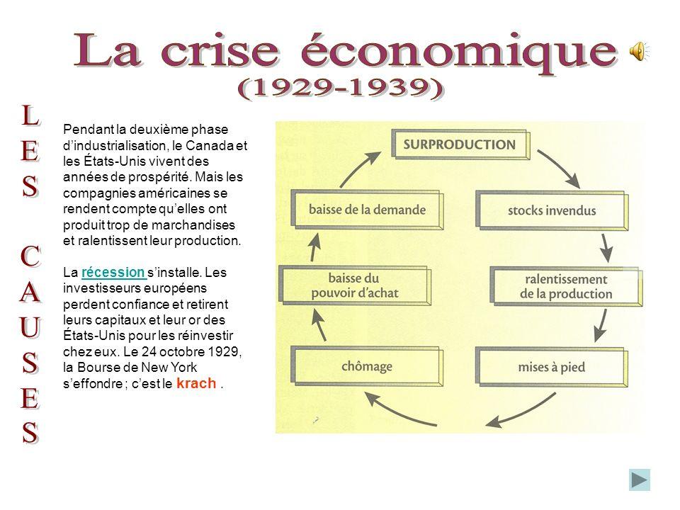 Pendant la deuxième phase dindustrialisation, le Canada et les États-Unis vivent des années de prospérité.