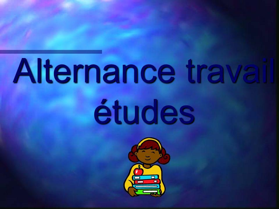 Alternance travail études…