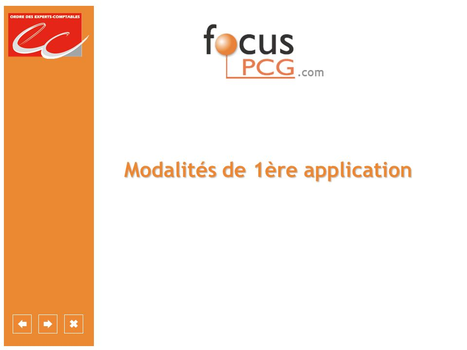 .com Modalités de 1ère application