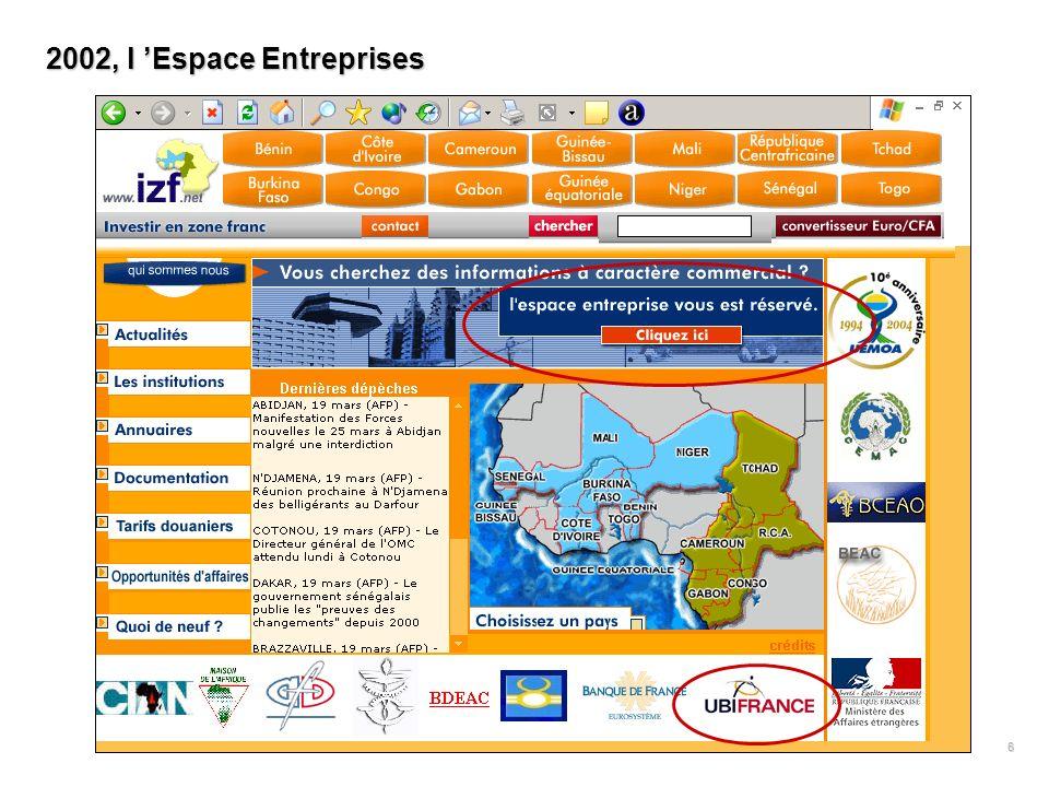 6 2002, l Espace Entreprises