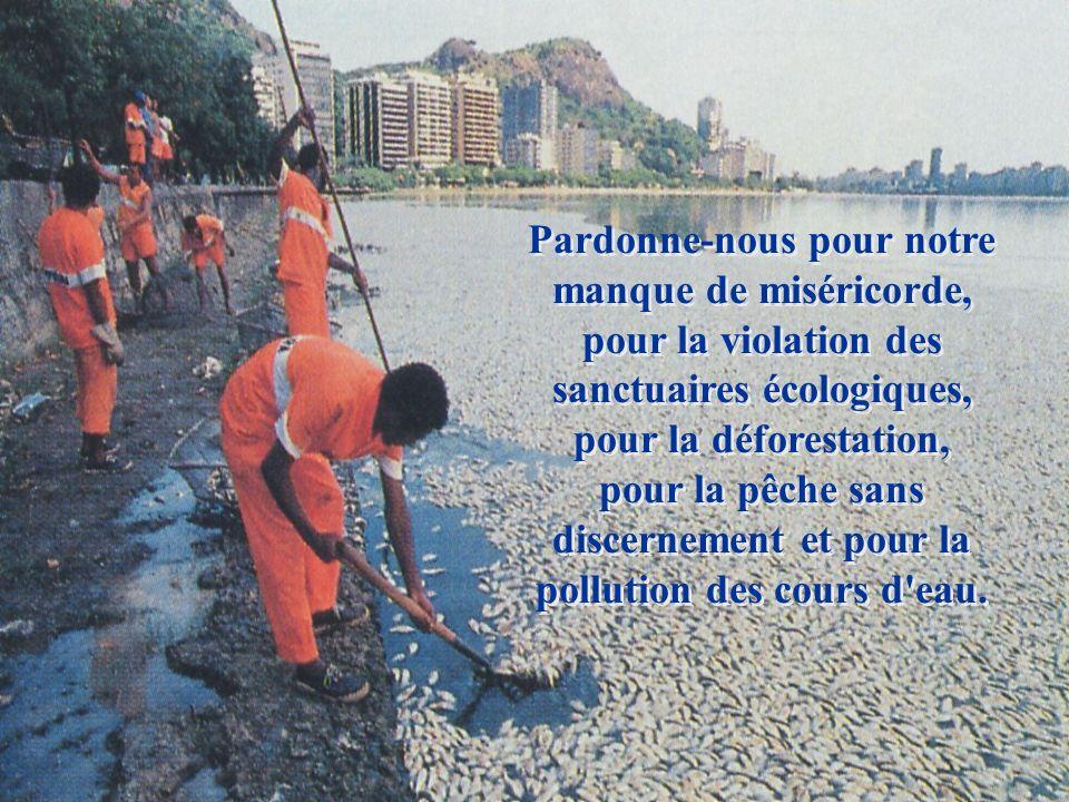 Pardonne-nous pour les incendies criminels qui polluent l'environnement sauvage et détruisent des milliers de vies silvestres. Pardonne-nous pour les