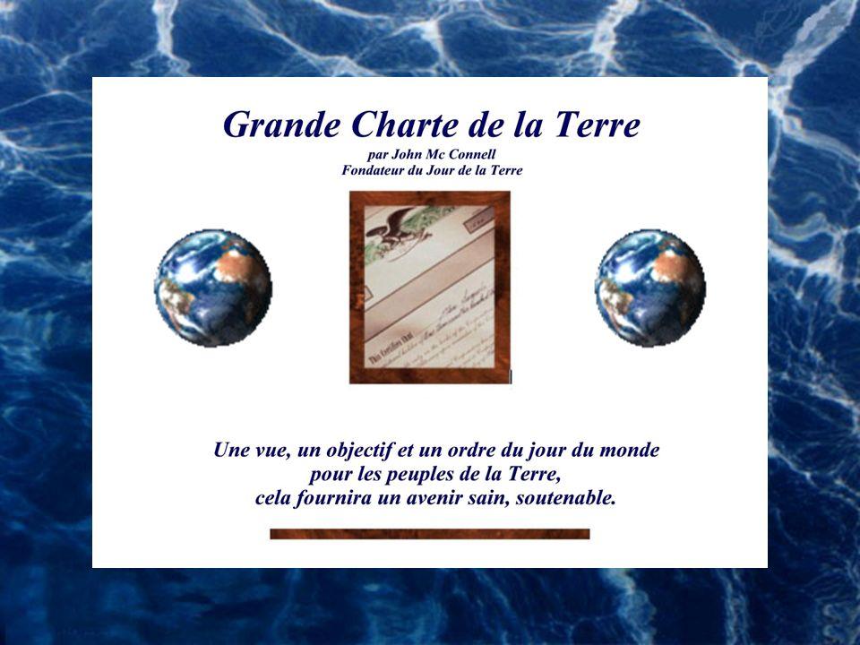 Le Jour de la Terre Tous les ans, le 20-21 mars, lors du Jour de la Terre, la Cloche de la Paix sonne aux Nations Unies au moment où le printemps comm