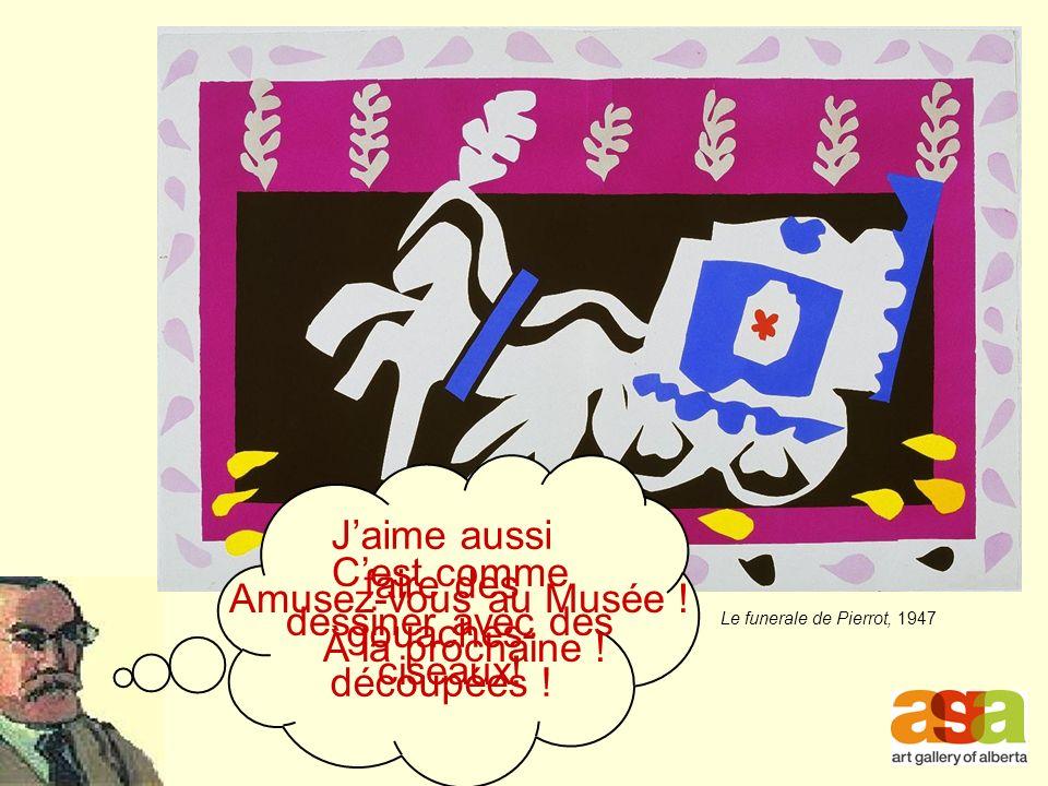 Le funerale de Pierrot, 1947 Jaime aussi faire des gouaches- découpées .