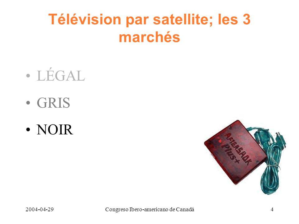 2004-04-29Congreso Ibero-americano de Canadá4 Télévision par satellite; les 3 marchés LÉGAL GRIS NOIR