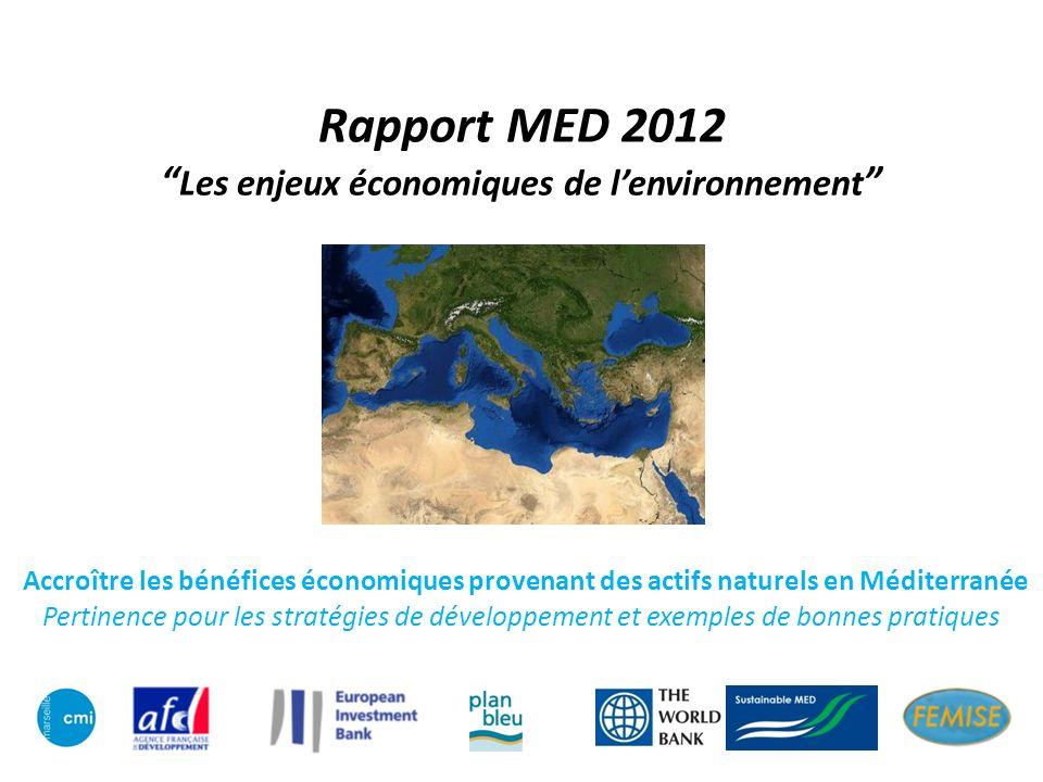 Rapport MED 2012 Les enjeux économiques de lenvironnement Accroître les bénéfices économiques provenant des actifs naturels en Méditerranée Pertinence pour les stratégies de développement et exemples de bonnes pratiques