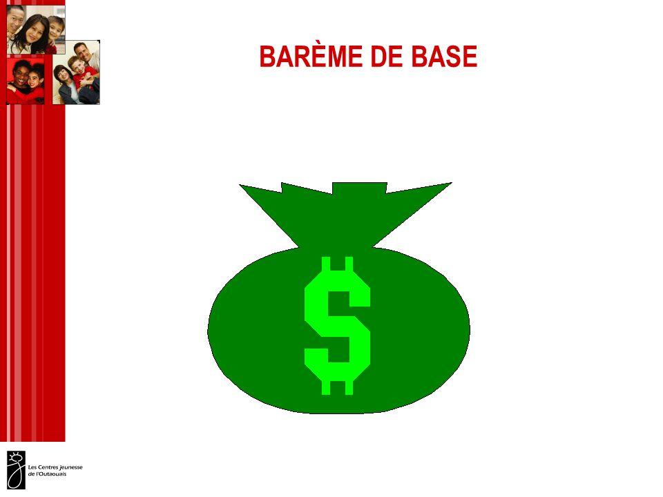 BARÈME DE BASE