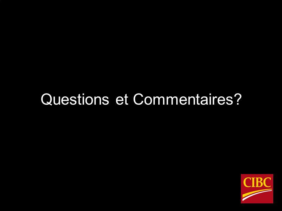 Questions et Commentaires