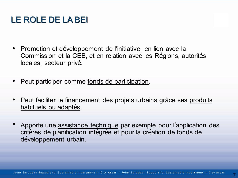 7 Promotion et d é veloppement de l initiative, en lien avec la Commission et la CEB, et en relation avec les R é gions, autorit é s locales, secteur priv é.