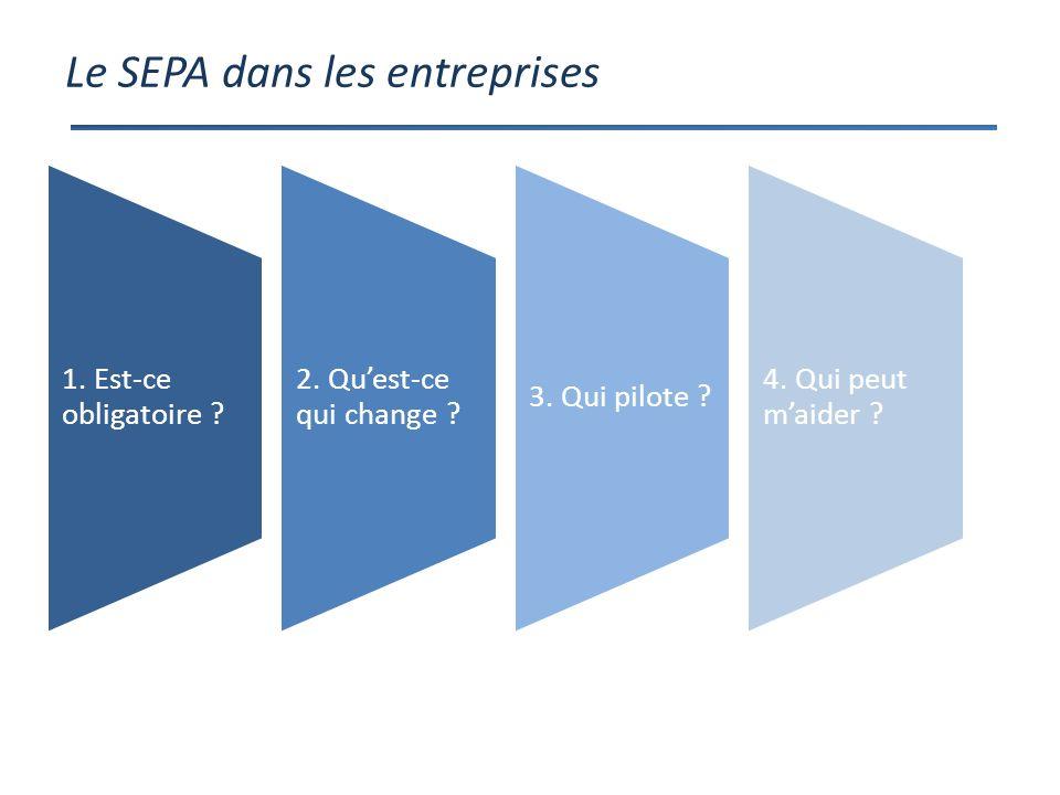 Le SEPA dans les entreprises 1. Est-ce obligatoire .