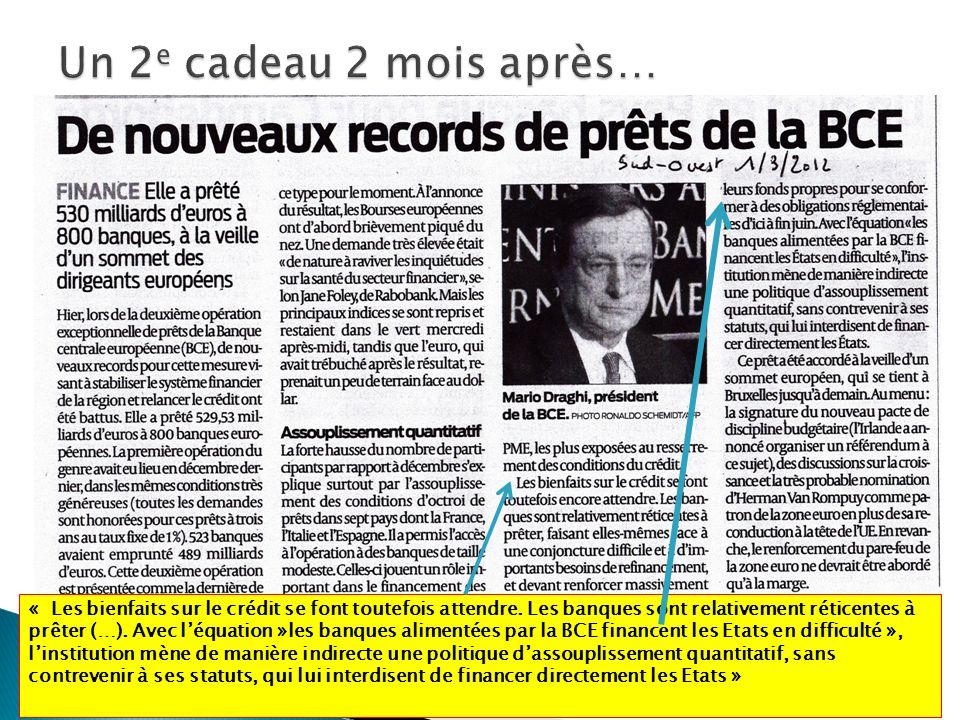 HM Périgny Jonzac 9/201218 « Les bienfaits sur le crédit se font toutefois attendre.