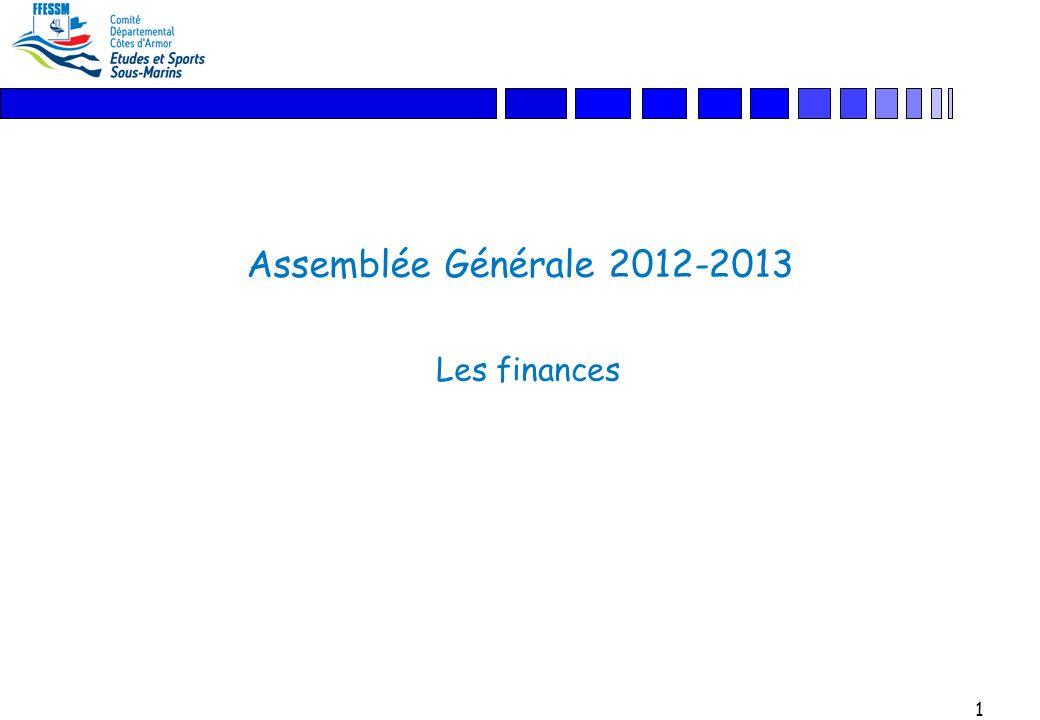 1 Assemblée Générale 2012-2013 Les finances