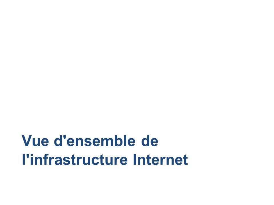 Vue d'ensemble de l'infrastructure Internet