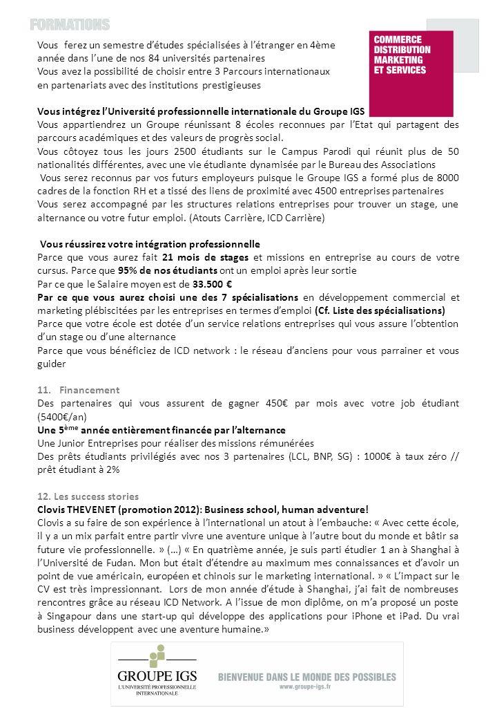 Alexis DONOT (promotion 1991): « lICD, une vraie business school internationale » - Directeur Général du Groupe lArgus de la Presse – Membre du Comité scientifique et professionnel de lICD « Ce qui ma toujours plu à lICD, cest le fait dassumer dêtre lécole du business development.