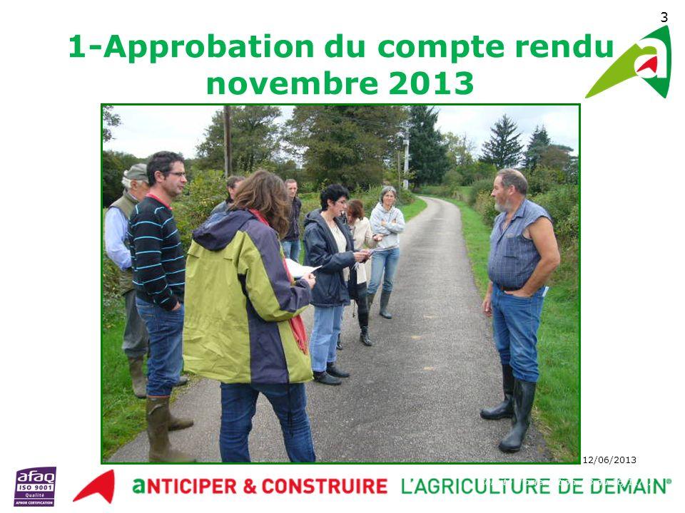 Comité Orientation AB – 12/06/2013 14 6- Préparation du mois de la conversion Bio - rétroplanning Filière / Thème Lieu / Ferme/date IntervenantsMessage Animateur référent ArboricultureA définirStéphanie GazeauA définirStéphanie Gazeau (MAB16) Viticulture Charente maritime /Charente Ferme entre 16 et 17 proche salle des fêtes - 12/09/2013 BNIC, Distillerie du Peyrat, Vitibio + Pôle conversion AB « Développons la viticulture Bio en Poitou-Charentes » Vitibio + GAB 17/CA + 17 MAB 16/CA 16 Grandes Cultures Silo de Charente Alliance (Blanzac) Charente Alliance + Pôle Conversion installations et stratégie de développement AB de lOE (collecte, prix …) Clément Bessettes + Samuel Neau + Hugues Chaboureau Silo de Huré Agri Consult (Châteauneuf) HURE Agri Consult + Pôle Conversion Communication autres acteurs à voir Viande (Bovin/ovin) A définir (zone confolentais) mélanges céréaliers + Pôle conversion Autonomie alimentaireN.