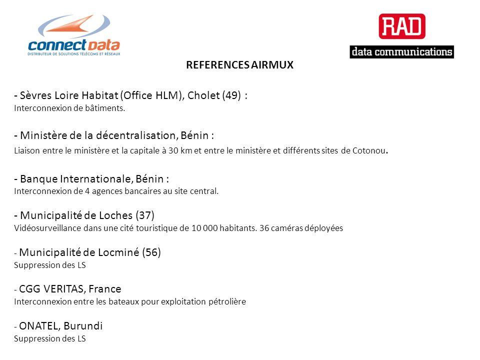 REFERENCES AIRMUX - Sèvres Loire Habitat (Office HLM), Cholet (49) : Interconnexion de bâtiments.
