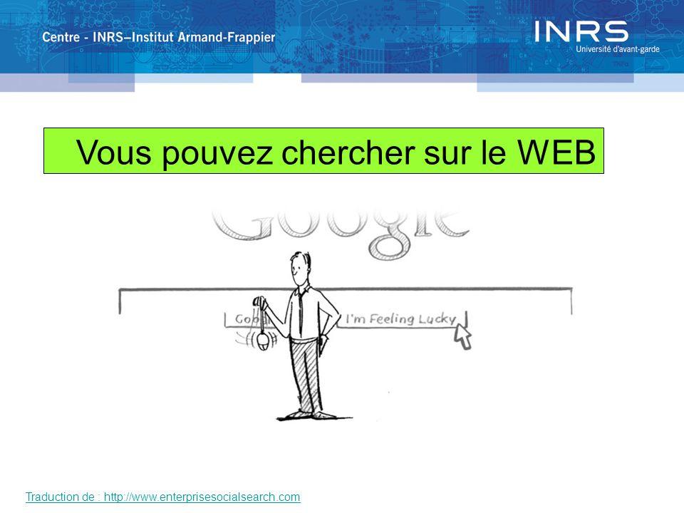 Traduction de : http://www.enterprisesocialsearch.com Vous pouvez chercher sur le WEB