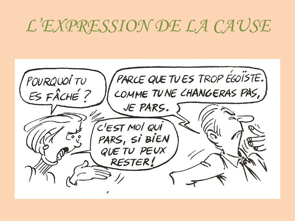 LEXPRESSION DE LA CAUSE