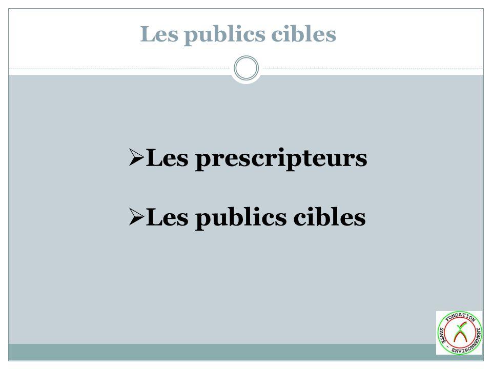 Les prescripteurs Les publics cibles