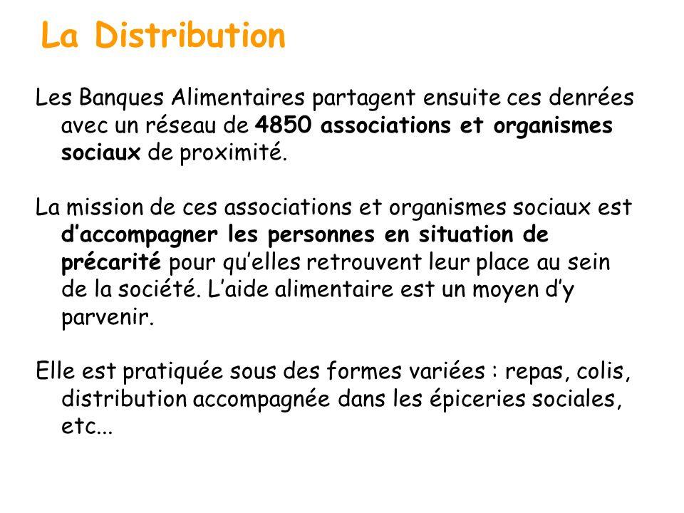 La Distribution Les Banques Alimentaires partagent ensuite ces denrées avec un réseau de 4850 associations et organismes sociaux de proximité. La miss