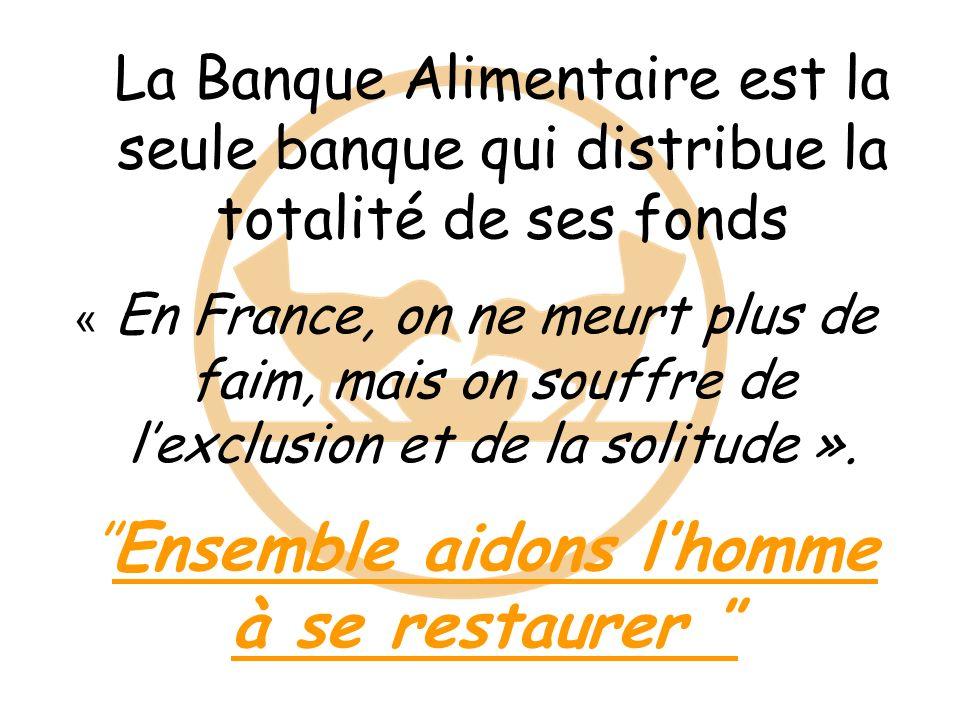 La Banque Alimentaire est la seule banque qui distribue la totalité de ses fonds « En France, on ne meurt plus de faim, mais on souffre de lexclusion