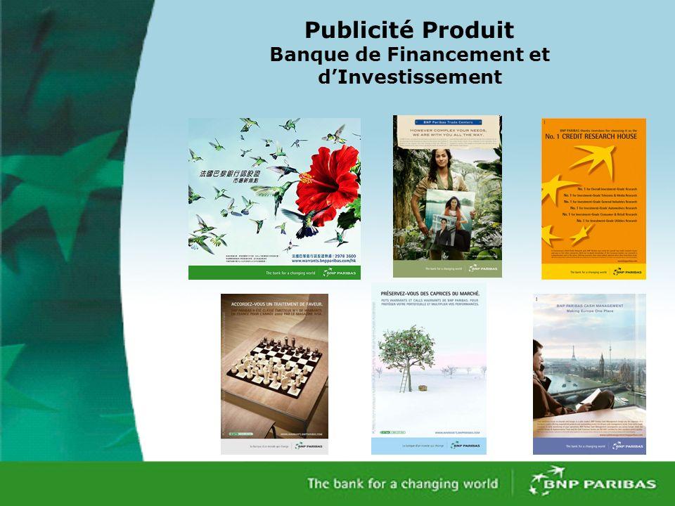 Publicité Produit Banque de Financement et dInvestissement