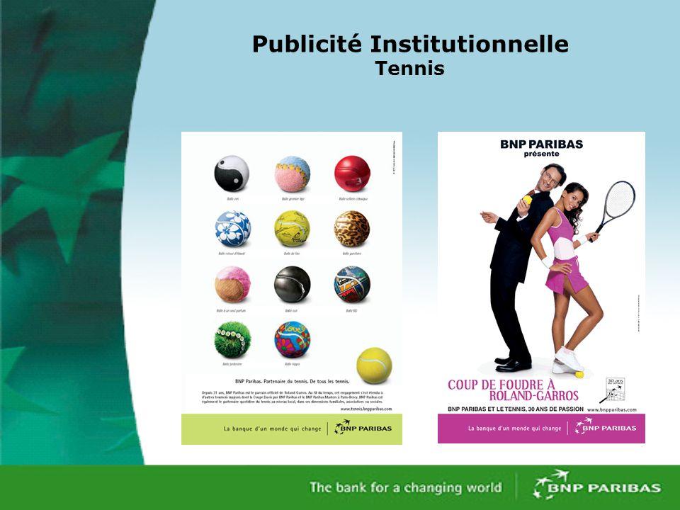 Publicité Institutionnelle Tennis