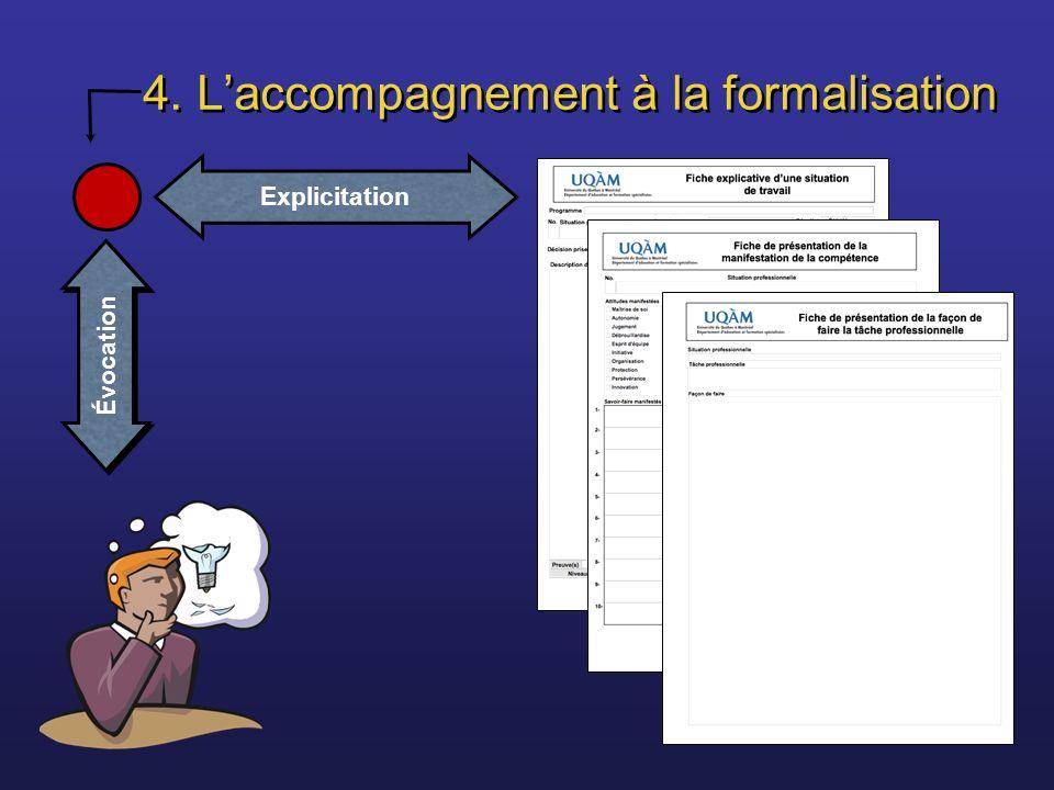 4. Laccompagnement à la formalisation Explicitation Évocation