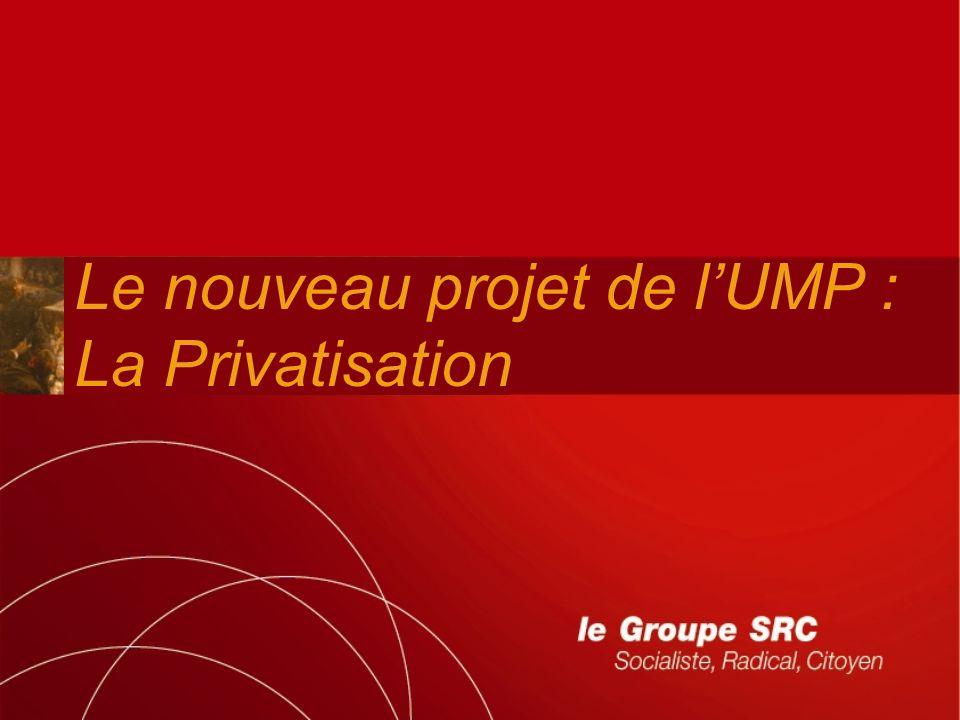 Le nouveau projet de lUMP : La Privatisation