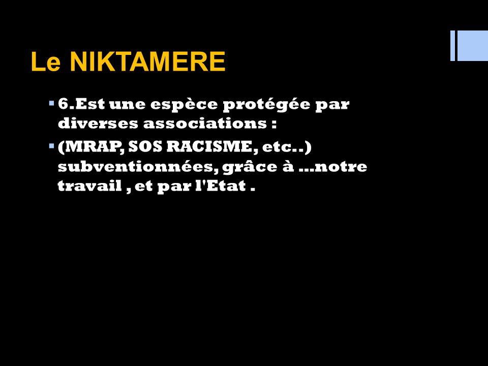 Le NIKTAMERE 5. Parle une sorte de patois : le SABIR. (Parler composite mêlé d'arabe, d'italien, d'espagnol et de français parlé en Afrique du Nord )
