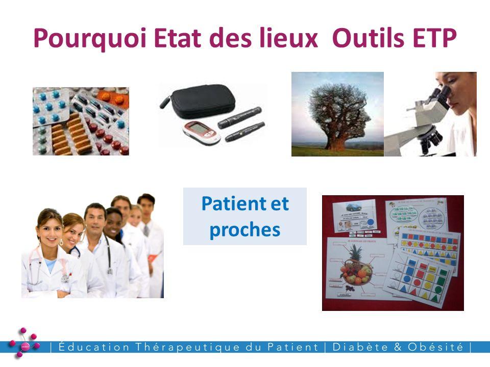 Pourquoi Etat des lieux Outils ETP 4 Patient et proches
