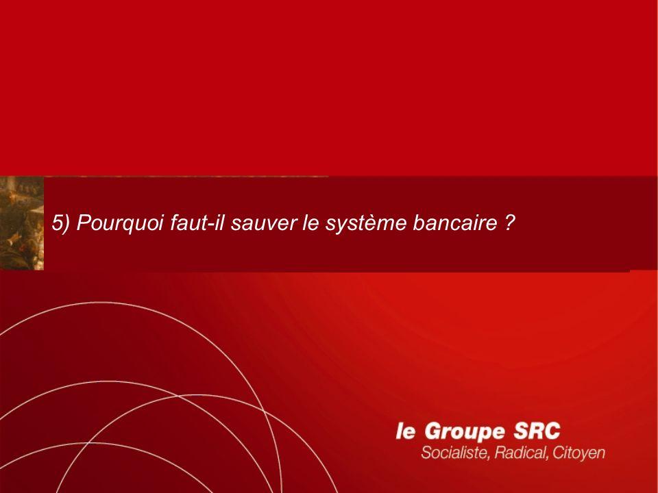 5) Pourquoi faut-il sauver le système bancaire