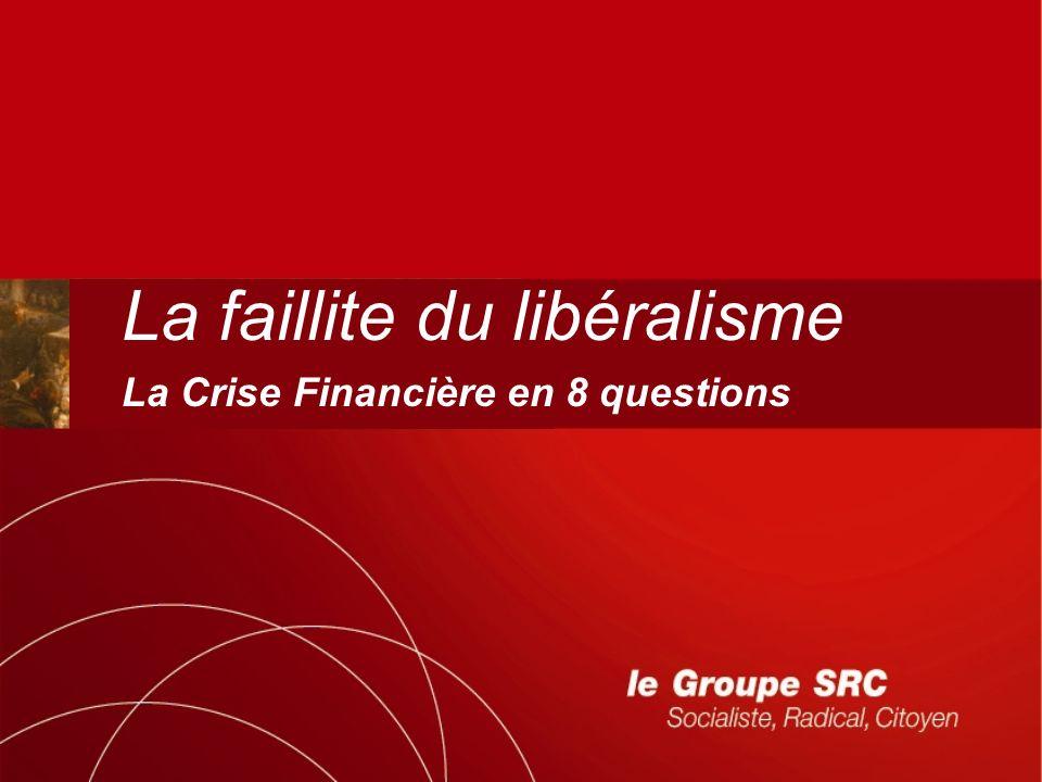 La faillite du libéralisme La Crise Financière en 8 questions