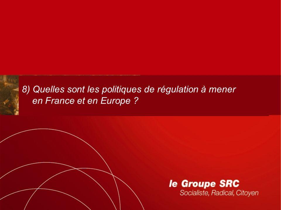 8) Quelles sont les politiques de régulation à mener en France et en Europe