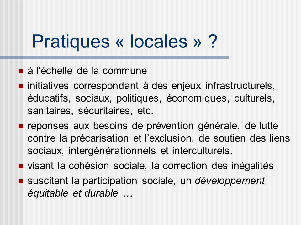 Pratiques « locales » .